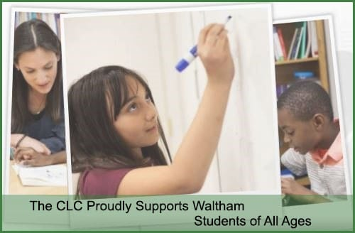 teacher watching child draw in Waltham MA